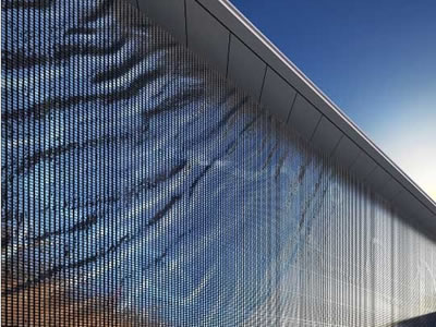 A lot of perforated kinetic facades are installed on the walls of public places.