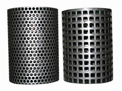 A round hole perforated plate coil and a square hole perforated plate coil.