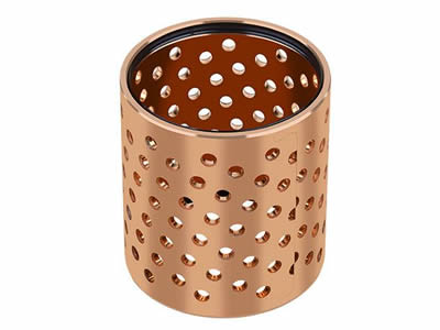 There is a perforated tube that is made of perforated copper sheet with round holes.