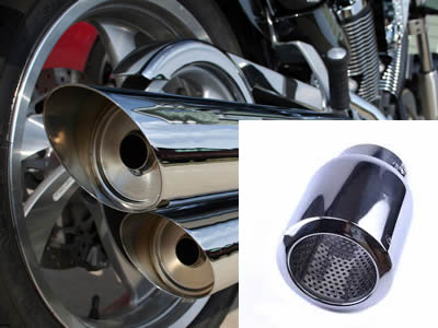 The picture shows perforated filter pipe is applied to exhaust pipe which is used in motorcycle.