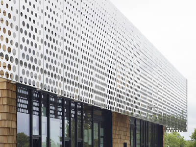 Perforated Metal Sheet For Facades Infill Panels Space