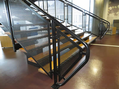 Perforated Metal Infill Panels Ensure Safety And Decorate