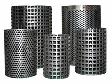 Five rolls of perforated screens with round and square hole.