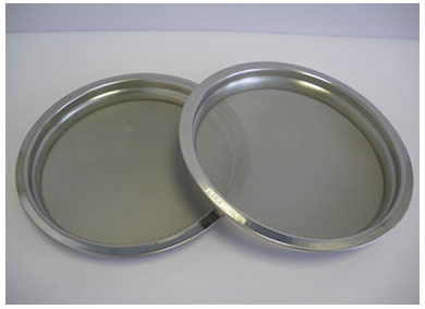 Two pieces of specially designed perforated sieves: air jet sieves