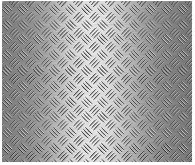 Checker plate with 3 bars pattern texture.