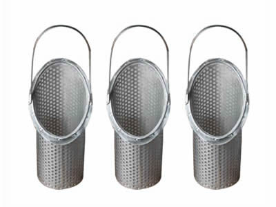 There three Y type perforated filter elements with handles.